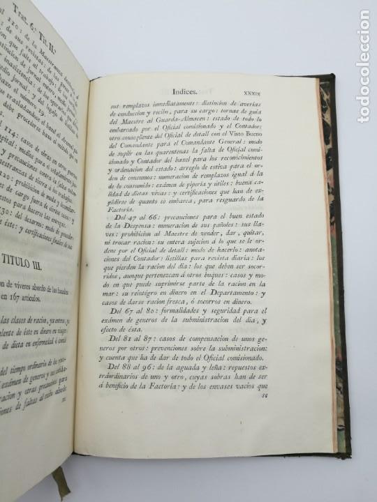 Libros antiguos: Ordenanzas generales de la armada Naval 1793 - Foto 10 - 153844386