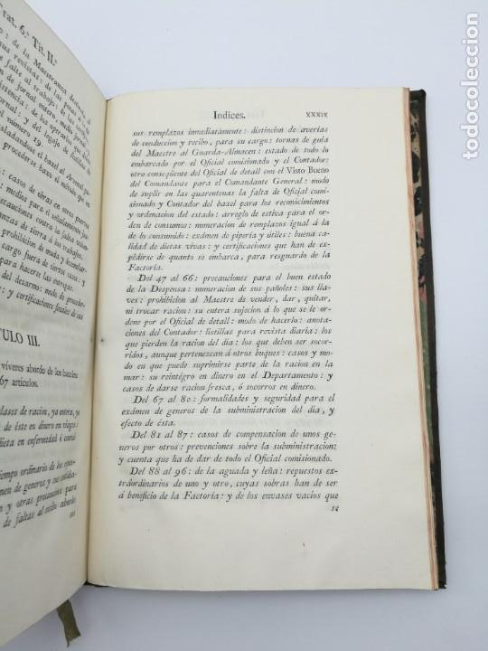 Libros antiguos: Ordenanzas generales de la armada Naval 1793 - Foto 11 - 153844386