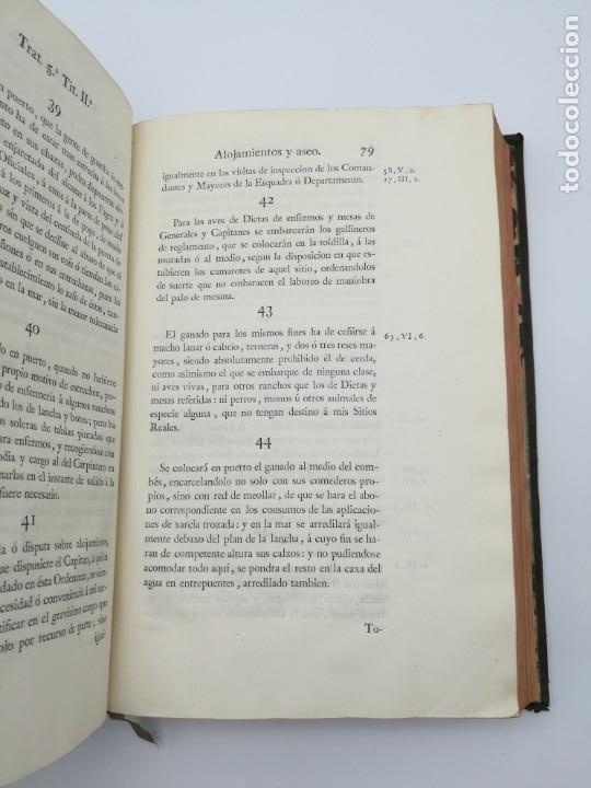 Libros antiguos: Ordenanzas generales de la armada Naval 1793 - Foto 12 - 153844386