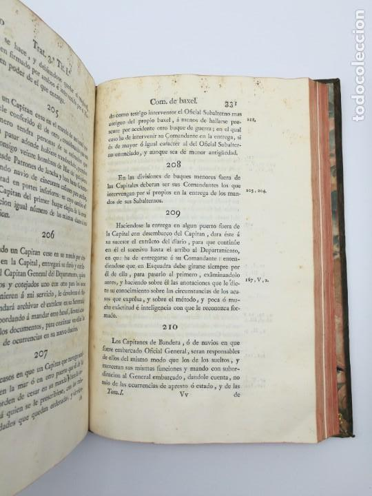 Libros antiguos: Ordenanzas generales de la armada Naval 1793 - Foto 13 - 153844386