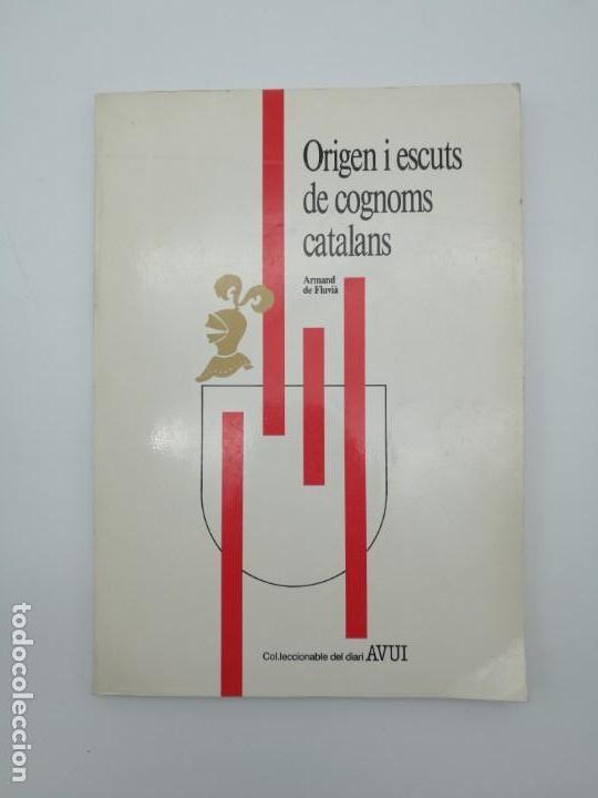 ORIGEN ESCUTS COGNOMS CATALANS HERÀLDICA ENCUADERNADO (Libros antiguos (hasta 1936), raros y curiosos - Historia Antigua)