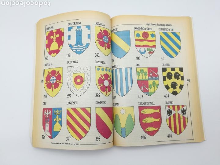 Libros antiguos: Origen escuts cognoms catalans Heràldica Encuadernado - Foto 3 - 153950810