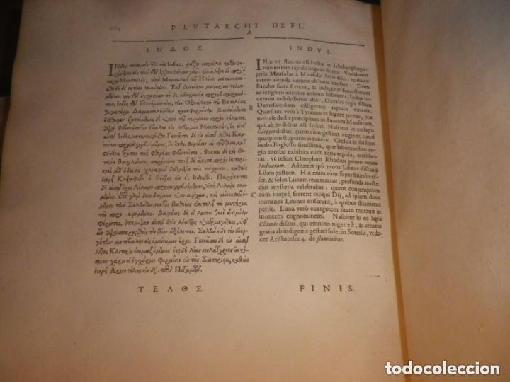 Libros antiguos: GIGANTE LIBRO : PLUTARCO - CHAERONENSIS OMNIUM QUAE EXTUM OPERUM, EN LATIN, AÑO 1624, 43X30 CMS - Foto 13 - 154114218