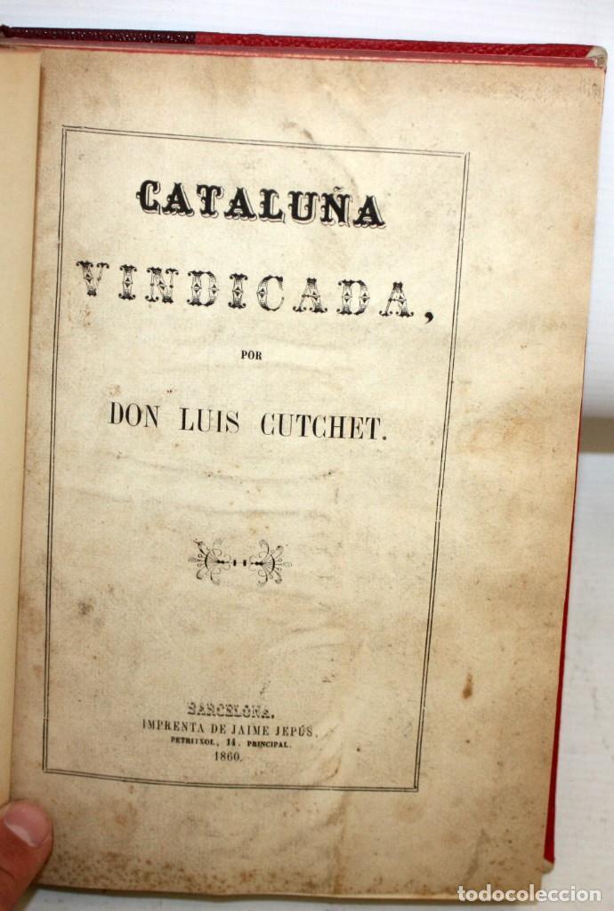 Libros antiguos: LA CIUDADELA DE BARCELONA-LUIS CUTCHET-1860. - Foto 2 - 154212222