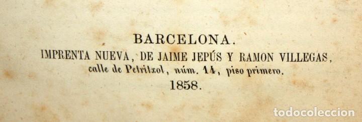 Libros antiguos: LA CIUDADELA DE BARCELONA-LUIS CUTCHET-1860. - Foto 8 - 154212222