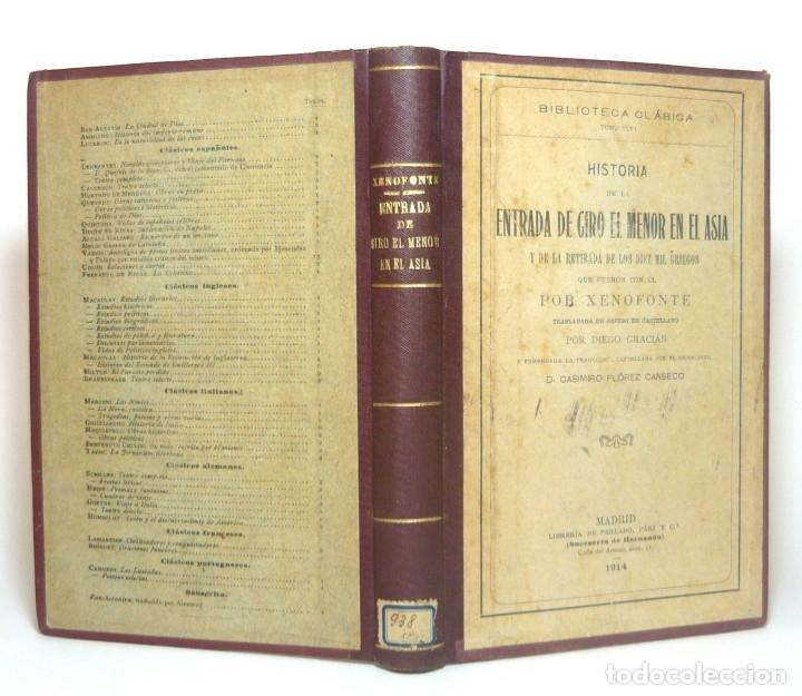 1914 - LA ANÁBASIS DE JENOFONTE. RETIRADA DE LOS DIEZ MIL - GRECIA, GUERRAS MÉDICAS, PERSIA, CIRO (Alte, seltene und kuriose Bücher (bis 1936) - Geschichte - Alte Geschichte)