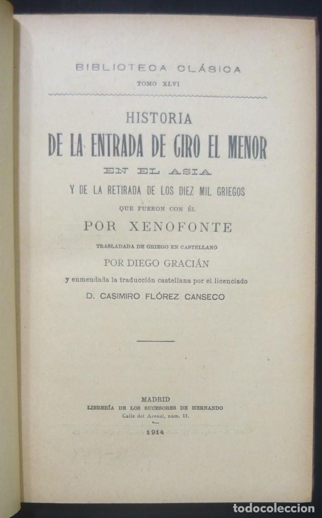 Alte Bücher: 1914 - La Anábasis de Jenofonte. Retirada de los Diez Mil - Grecia, Guerras Médicas, Persia, Ciro - Foto 5 - 154330910