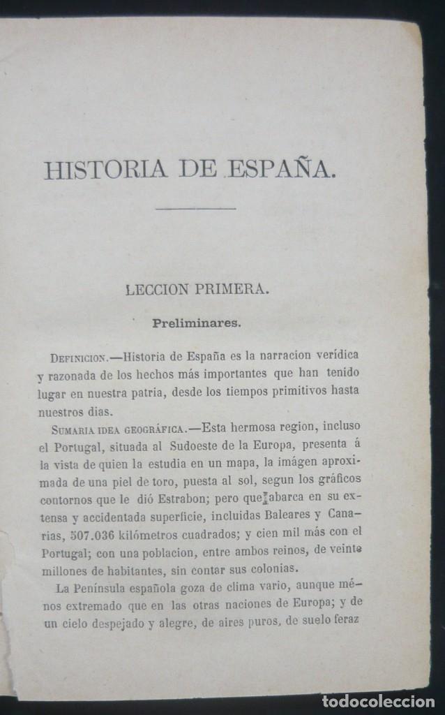 Alte Bücher: 1878 - Historia de España - Hispania Romana, Visigoda, Al-Andalus, Reconquista, Edad Moderna - Foto 6 - 154332726