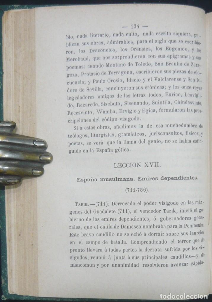 Alte Bücher: 1878 - Historia de España - Hispania Romana, Visigoda, Al-Andalus, Reconquista, Edad Moderna - Foto 8 - 154332726