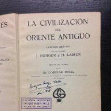 Libros antiguos: CIVILIZACIONES ANTIGUAS, ORIENTE ANTIGUO, GRIEGA Y ROMANA, HUNGER, J. Y LAMER, H., 1924 (3 EN 1). Lote 154379394