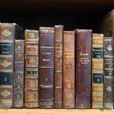 Libros antiguos: XVIII - XIX - LOTE DE 15 LIBROS ANTIGUOS - EN ESPAÑOL Y FRANCÉS - HISTORIA - RELIGIÓN - GRABADOS. Lote 154423962