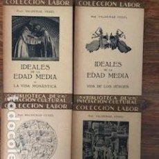 Libros antiguos: IDEALES DE LA EDAD MEDIA, 4 VOLÚMENES. Lote 152782682