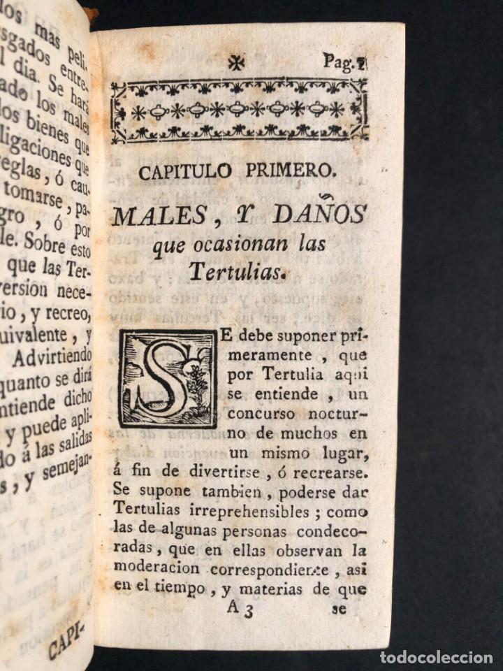 Libros antiguos: 1782 Tratado sobre las tertulias - castidad - murmuracion - juego - lujo - Foto 4 - 154741542