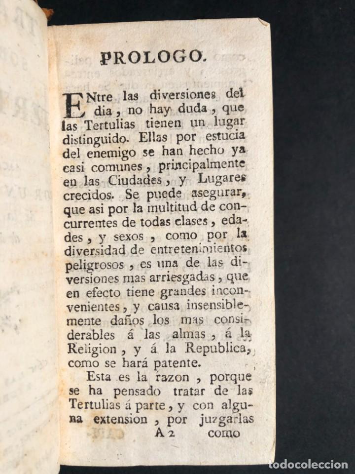 Libros antiguos: 1782 Tratado sobre las tertulias - castidad - murmuracion - juego - lujo - Foto 5 - 154741542