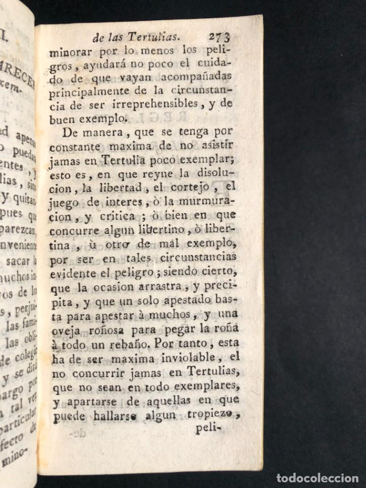Libros antiguos: 1782 Tratado sobre las tertulias - castidad - murmuracion - juego - lujo - Foto 6 - 154741542