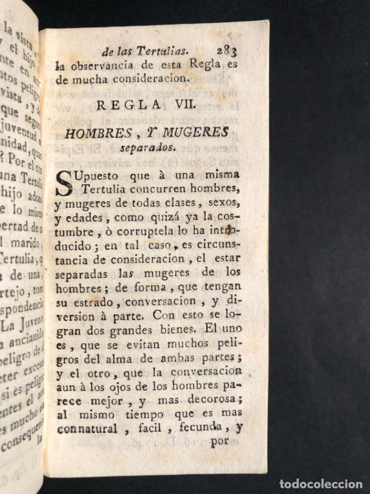 Libros antiguos: 1782 Tratado sobre las tertulias - castidad - murmuracion - juego - lujo - Foto 7 - 154741542