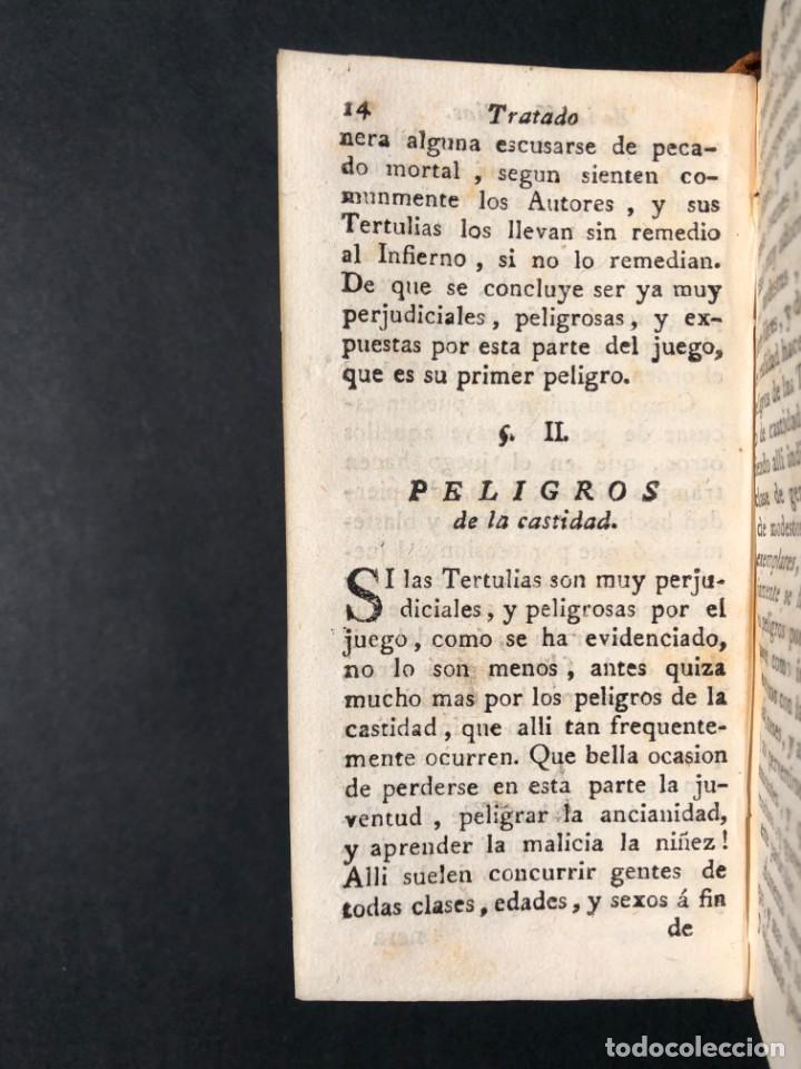Libros antiguos: 1782 Tratado sobre las tertulias - castidad - murmuracion - juego - lujo - Foto 11 - 154741542