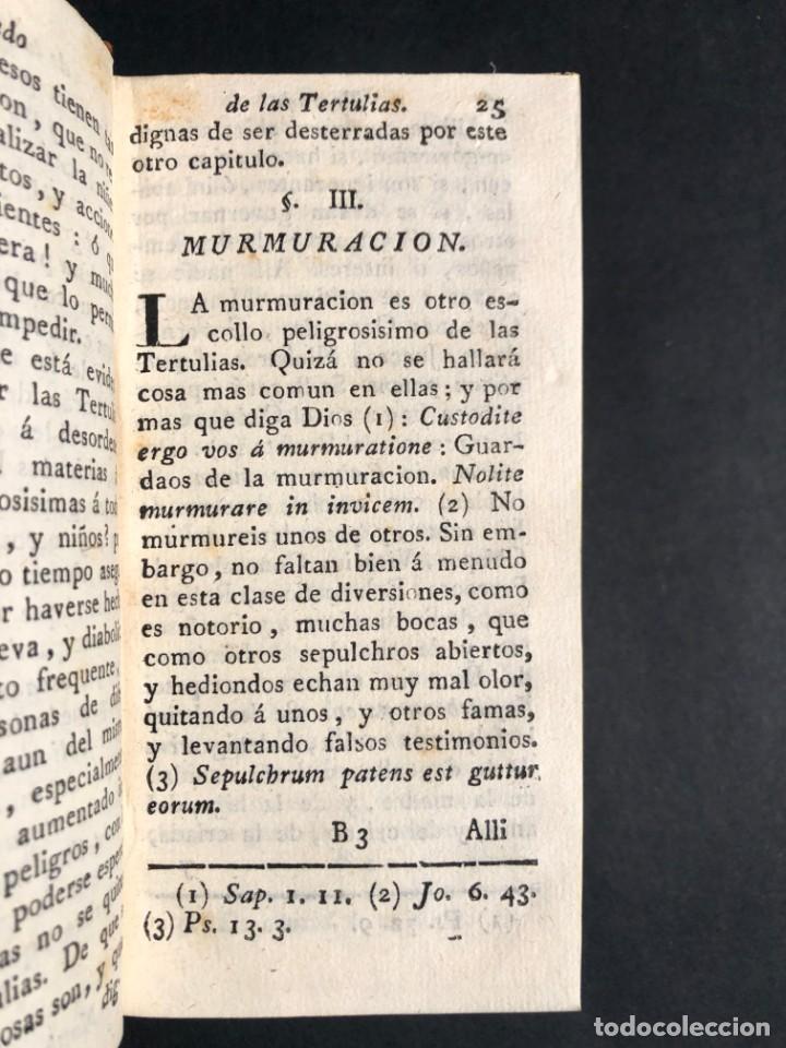 Libros antiguos: 1782 Tratado sobre las tertulias - castidad - murmuracion - juego - lujo - Foto 12 - 154741542
