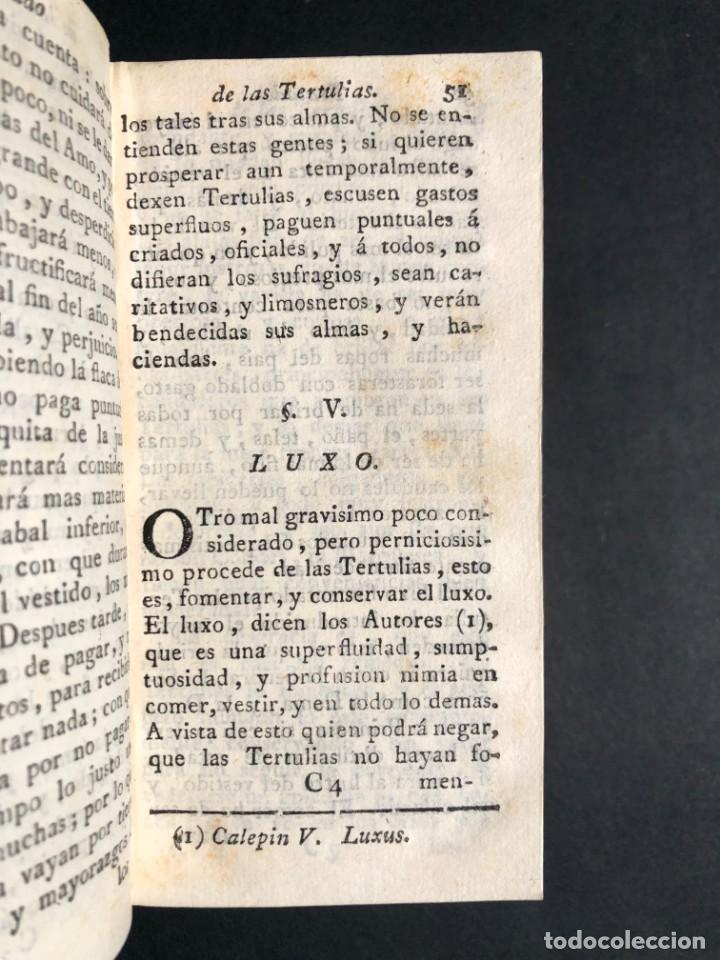 Libros antiguos: 1782 Tratado sobre las tertulias - castidad - murmuracion - juego - lujo - Foto 13 - 154741542