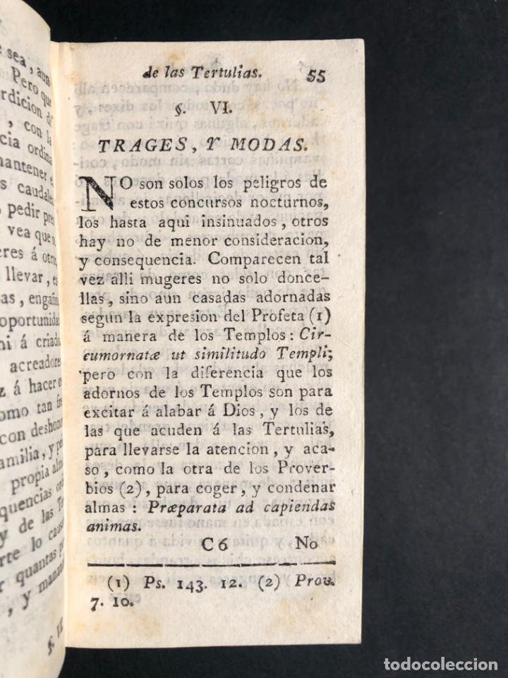 Libros antiguos: 1782 Tratado sobre las tertulias - castidad - murmuracion - juego - lujo - Foto 14 - 154741542