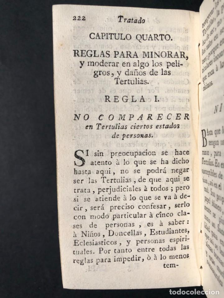 Libros antiguos: 1782 Tratado sobre las tertulias - castidad - murmuracion - juego - lujo - Foto 17 - 154741542
