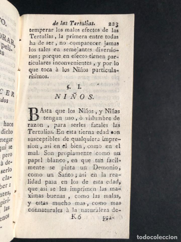 Libros antiguos: 1782 Tratado sobre las tertulias - castidad - murmuracion - juego - lujo - Foto 18 - 154741542