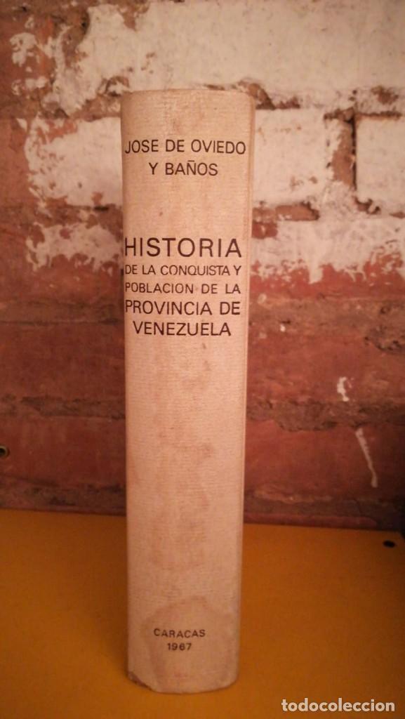 Libros antiguos: Historia de la conquista y población de la provincia de Venezuela - Foto 2 - 154791990