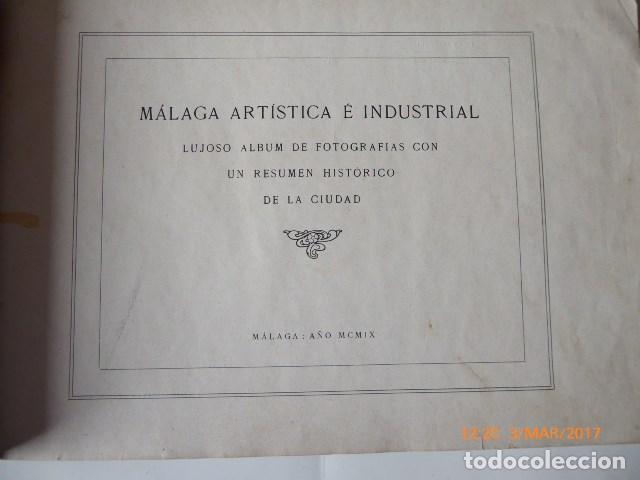 Libros antiguos: libro malaga, 1909, artistica e industrial. - Foto 2 - 154971666