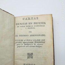 Libros antiguos: CARTAS ESCRITAS EN DEFENSA 1823 MANRESA. Lote 155015062