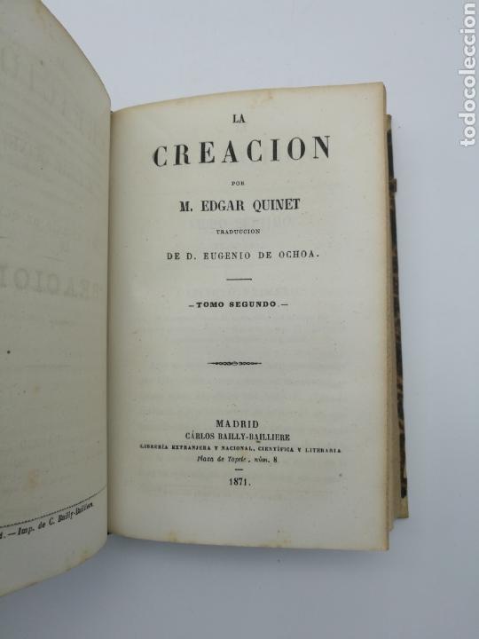 Libros antiguos: La creación de E Quintet 1871 en dos partes - Foto 3 - 155067914