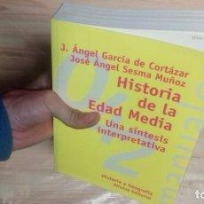Libros antiguos: GARCIA DE CORTAZAR HISTORIA DE LA EDAD MÉDIA. Lote 155107114