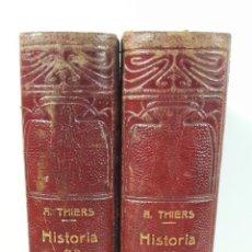 Libros antiguos: HISTORIA DE LA REVOLUCIÓN FRANCESA. 2 TOMOS. A. THIERS. BARCELONA. S/F.. Lote 155221558
