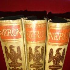 Libros antiguos: NERÓN, 3 TOMOS. Lote 155255621
