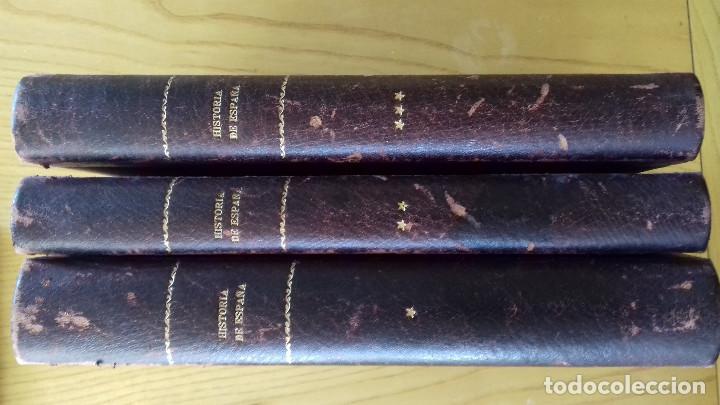 Alte Bücher: HISTORIA DE ESPAÑA-COMPLETA 3 TOMOS- ED. SEGUÍ (BARCELONA)- 19??-ENCUADERNADO EXCLUSIVO - Foto 3 - 155339486