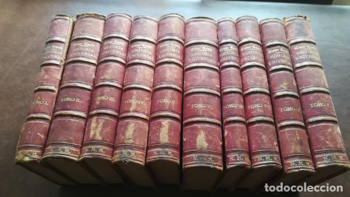 HISTORIA UNIVERSAL. CESAR CANTÚ. 1875. IMPRENTA Y LIBRERIA GASPAR. 10 TOMOS (Libros antiguos (hasta 1936), raros y curiosos - Historia Antigua)