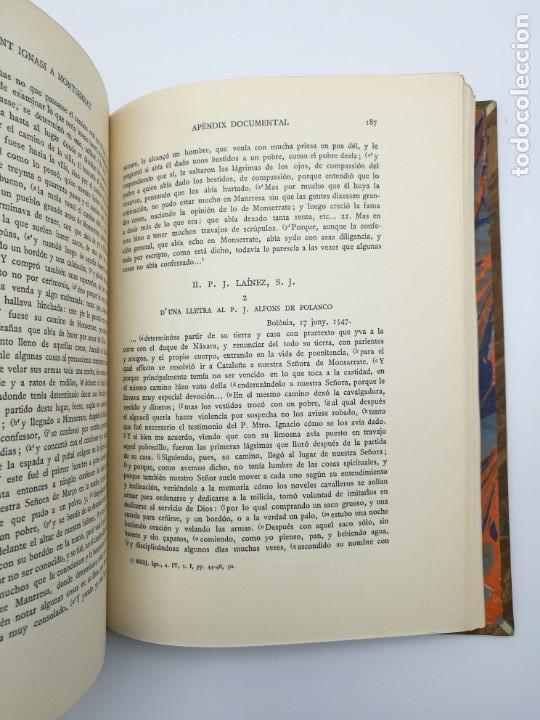 Libros antiguos: Sant Ignasi a Montserrat 1935 - Foto 4 - 155492102