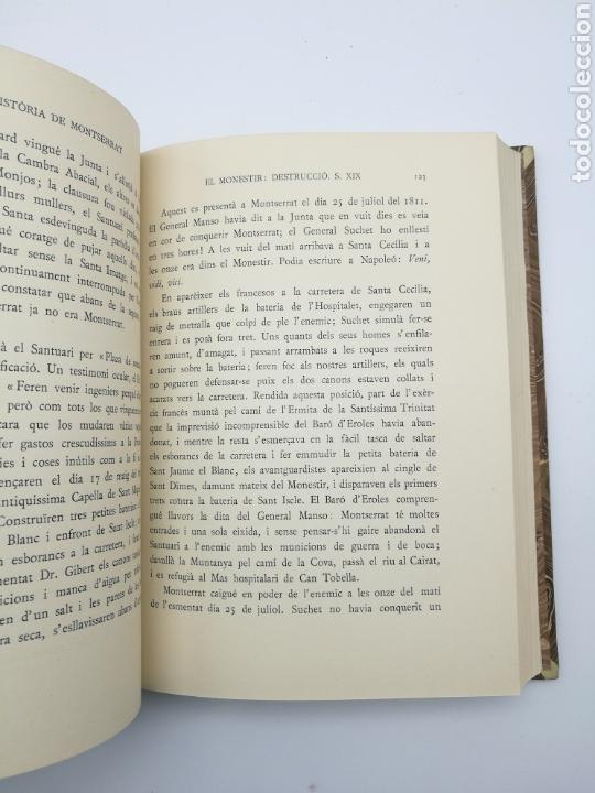 Libros antiguos: Història de Montserrat 1931 - Foto 5 - 155504602