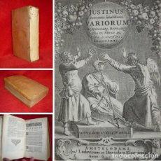 Libros antiguos: AÑO 1669 - PRECIOSO - HISTORIA UNIVERSAL DE JUSTINO -EXQUISITA EDICION ELZEVIRIANA -SOLO 2 EN ESPAÑA. Lote 155816974