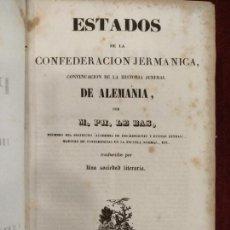 Libros antiguos: ESTADOS DE LA CONFEDERACIÓN JERMANICA 1845, IMPRENTA DE IMPARCIAL. Lote 155841757