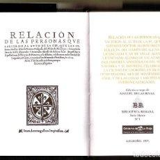 Libros antiguos: AUTO DE FE CELEBRADO EN LOGROÑO EN 1610, RELACION DE PERSONAS Y DELITOS 134 PAG.17CM.1993. Lote 156028674