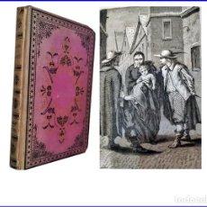 Libros antiguos: AÑO 1877: BENEFACTORES DE LA HUMANIDAD: DE LAS CASAS, PASCAL. NEWTON, DESCARTES, COPÉRNICO... 25 CM . Lote 156216350
