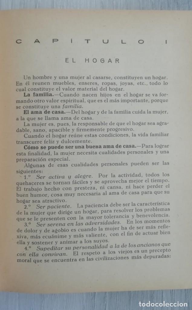 Libros antiguos: Libro del hogar 1946.En este libro se representa el poder del clero y el machismo. MARIA BALDO - Foto 5 - 157000050