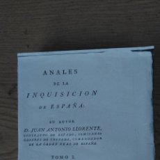 Libros antiguos: ANALES DE LA INQUISICIÓN DE ESPAÑA. Lote 157289114