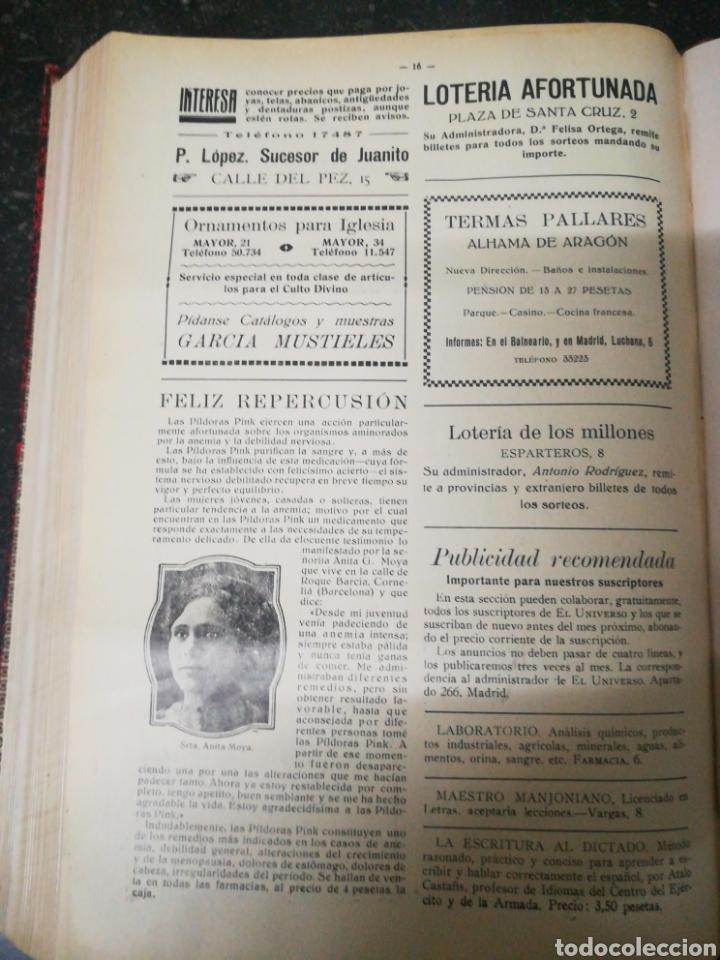 Libros antiguos: Recopilacion revista EL UNIVERSO . 1929 - Foto 6 - 157347001