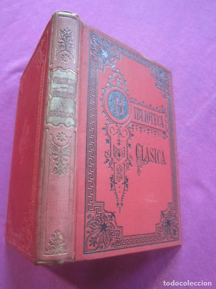 Libros antiguos: EGLOGAS Y GEORGICAS PUBLIO VIRGILIO MARON AÑO 1909 - Foto 2 - 157469102