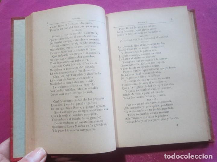 Libros antiguos: EGLOGAS Y GEORGICAS PUBLIO VIRGILIO MARON AÑO 1909 - Foto 7 - 157469102