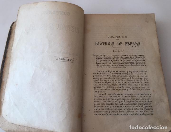Libros antiguos: Compendio Historia de España 1907 Don Marcos M.De la Calle Segunda Edición Zamora - Foto 4 - 158121718