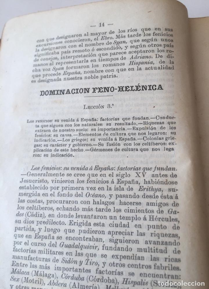 Libros antiguos: Compendio Historia de España 1907 Don Marcos M.De la Calle Segunda Edición Zamora - Foto 8 - 158121718