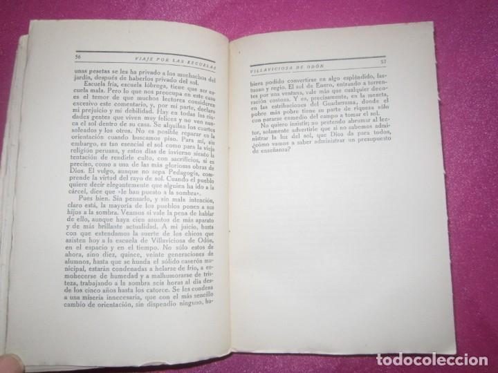 Libros antiguos: VIAJE POR LAS ESCUELAS DE ESPAÑA CERCO DE MADRID BELLO, LUIS AÑO 1926 - Foto 3 - 158424658
