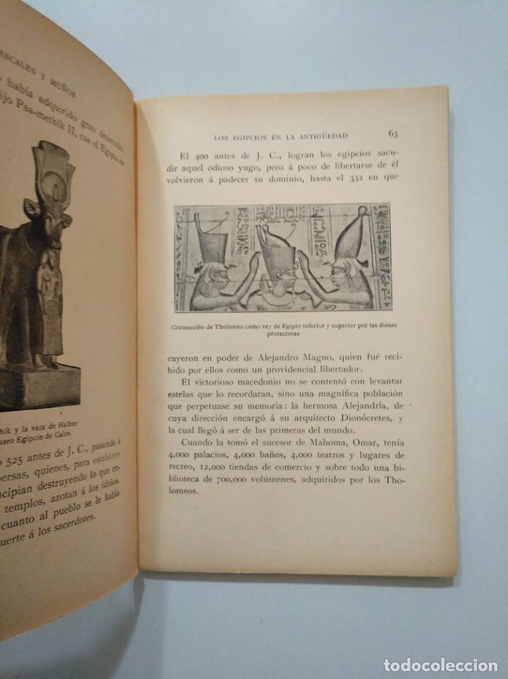 Libros antiguos: LOS EGIPCIOS EN LA ANTIGÜEDAD. - J. CASCALES Y MUÑOZ. F. GRANADA Y CIA EDITORES. TDK378 - Foto 2 - 158643422